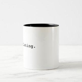 Recalculating. Two-Tone Coffee Mug