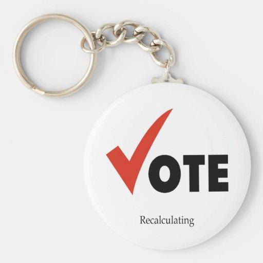 Recálculo del voto llavero redondo tipo pin