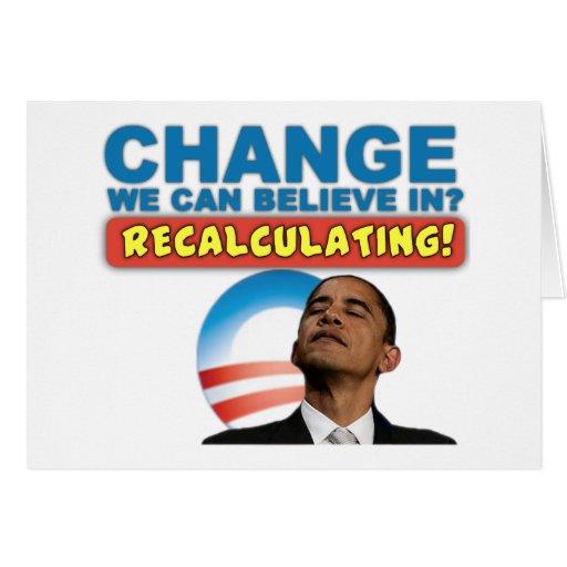 Recálculo - Obama anti Tarjeta De Felicitación