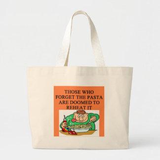 recaliente las pastas bolsa lienzo