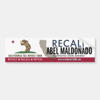 Recall Abel Maldonado Bumper Sticker Car Bumper Sticker