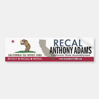 Recall Anthony Adams Bumper Sticker