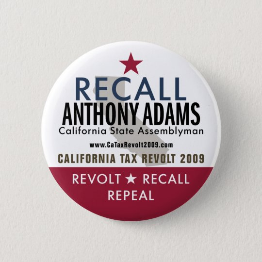 Recall Anthony Adams Button