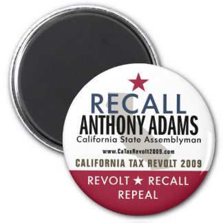 Recall Anthony Adams Magnet
