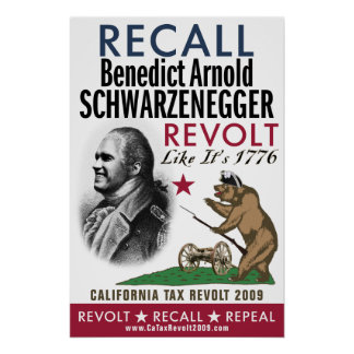 Recall Benedict Arnold - Revolt Like 1776 Poster