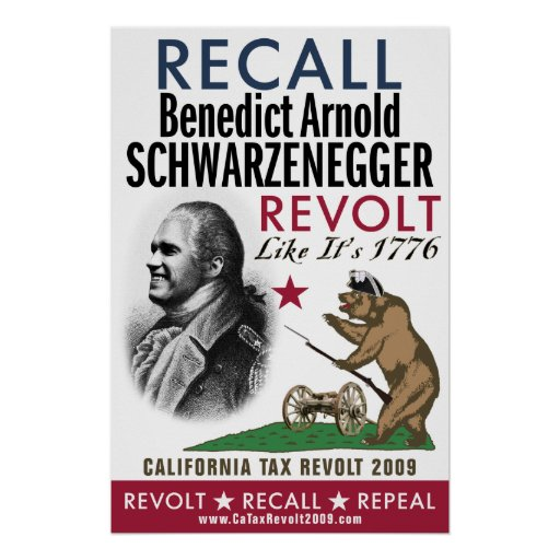 Recall Benedict Arnold - Revolt Like 1776 Poster