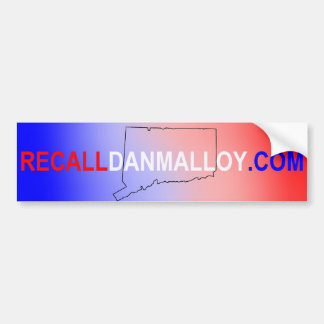 Recall Dan Malloy Car Bumper Sticker