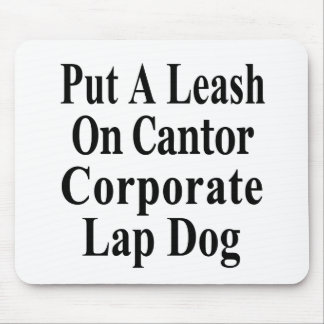 Recall Eric Cantor Koch Oil's Lap Dog Mouse Pads