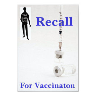 Recall for Vaccination Card