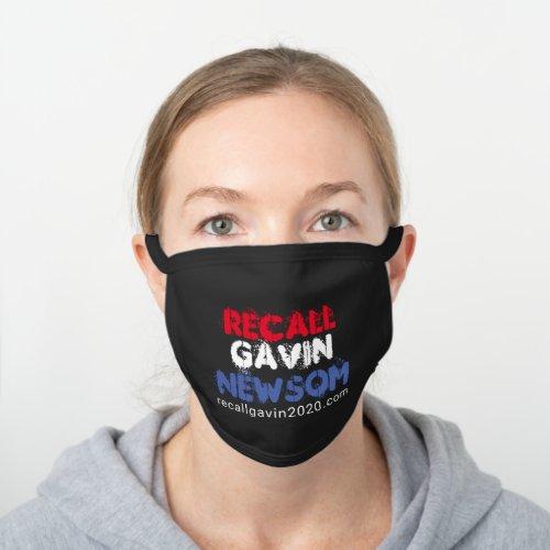 Recall Gavin Newsom Black Cotton Face Mask