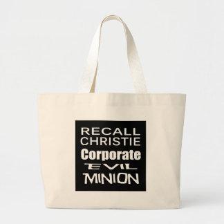 Recall Governor Chris Christie Koch Oil's Minion Jumbo Tote Bag