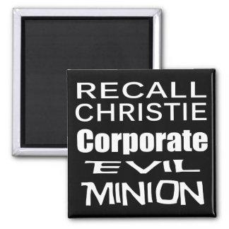 Recall Governor Chris Christie Koch Oil's Minion Magnet