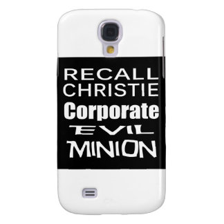 Recall Governor Chris Christie Koch Oil's Minion Samsung S4 Case