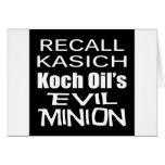 Recall Governor John Kasich Koch Oil's Minion Card