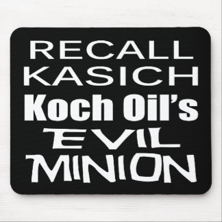 Recall Governor John Kasich Koch Oil's Minion Mouse Pad