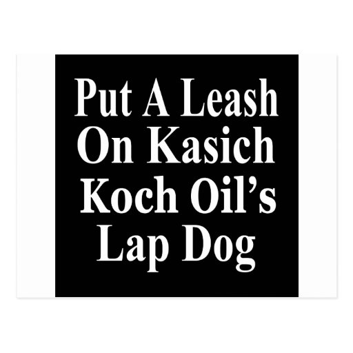Recall Governor John Kasich Koch Oil's Minion Post Card