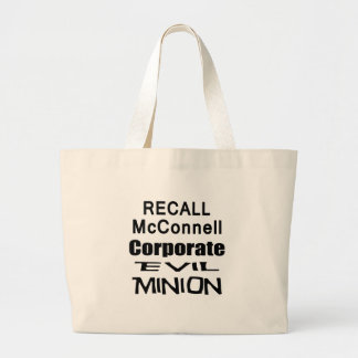 Recall Governor Mitch McConnell Koch Oil's Minion Jumbo Tote Bag