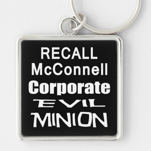 Recall Governor Mitch McConnell Koch Oil's Minion Keychains