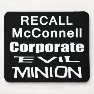 Recall Governor Mitch McConnell Koch Oil's Minion Mousepad
