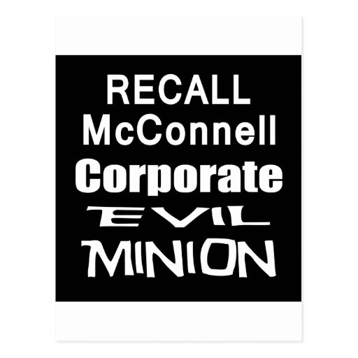 Recall Governor Mitch McConnell Koch Oil's Minion Postcards