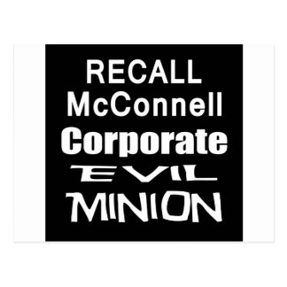 Recall Governor Mitch McConnell Koch Oil's Minion Postcard