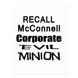 Recall Governor Mitch McConnell Koch Oil's Minion Postcard