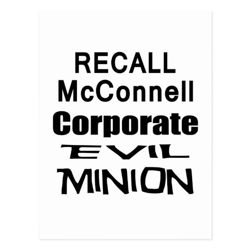 Recall Governor Mitch McConnell Koch Oil's Minion Post Cards