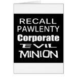 Recall Governor Pawlenty Koch Oil's  Evil Minion Cards