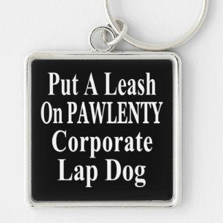 Recall Governor Pawlenty Koch Oil's  Evil Minion Silver-Colored Square Keychain