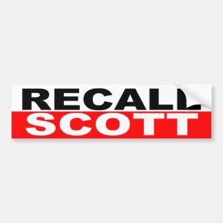 Recall Governor Rick Scott Car Bumper Sticker