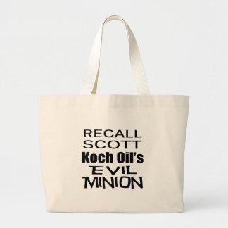 Recall Governor Rick Scott Koch Oil's  Evil Minion Tote Bags
