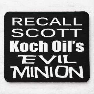 Recall Governor Rick Scott Koch Oil's  Evil Minion Mouse Pad