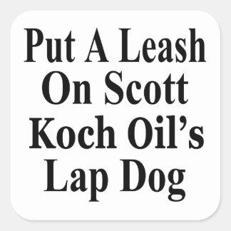 Recall Governor Rick Scott Koch Oil's  Evil Minion Square Sticker