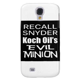Recall Governor Rick Snyder Evil Corporate Minion Samsung Galaxy S4 Cases
