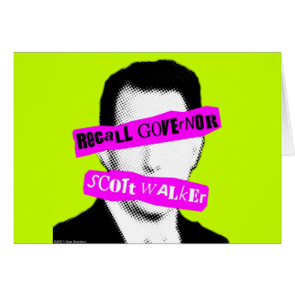 Recall Governor Scott Walker Card