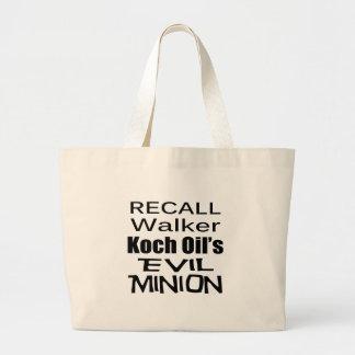 Recall Governor Scott Walker Corporate Evil Minion Tote Bags