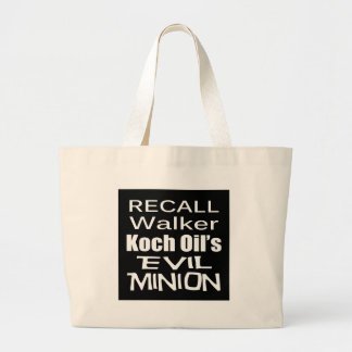 Recall Governor Scott Walker Corporate Evil Minion Canvas Bag