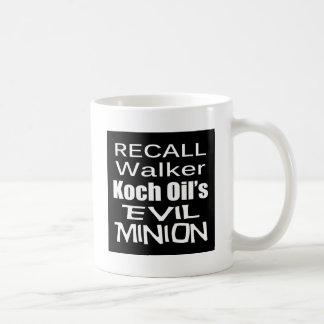 Recall Governor Scott Walker Corporate Evil Minion Coffee Mug
