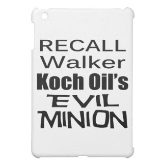 Recall Governor Scott Walker Corporate Evil Minion iPad Mini Covers
