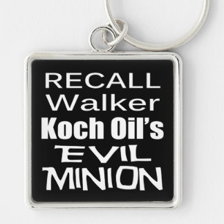 Recall Governor Scott Walker Corporate Evil Minion Keychain