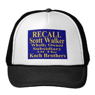 Recall Governor Scott Walker Corporate Minion Mesh Hats