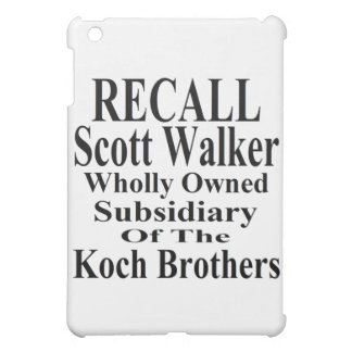 Recall Governor Scott Walker Corporate Minion iPad Mini Case