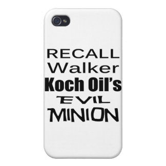 Recall Governor Scott Walker Corporate Minion iPhone 4 Cases