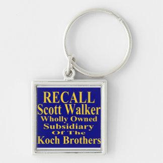 Recall Governor Scott Walker Corporate Minion Keychain