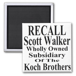 Recall Governor Scott Walker Corporate Minion 2 Inch Square Magnet