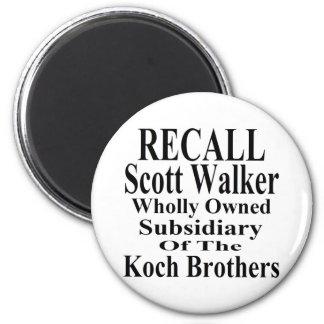 Recall Governor Scott Walker Corporate Minion 2 Inch Round Magnet