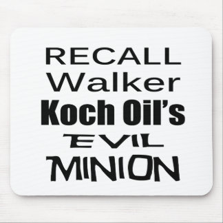 Recall Governor Scott Walker Corporate Minion Mouse Pad