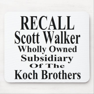 Recall Governor Scott Walker Corporate Minion Mousepad