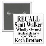Recall Governor Scott Walker Corporate Minion Pin