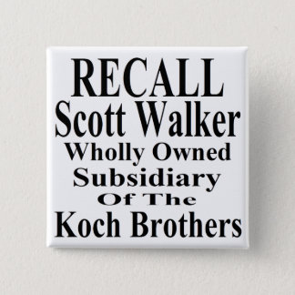 Recall Governor Scott Walker Corporate Minion Pinback Button